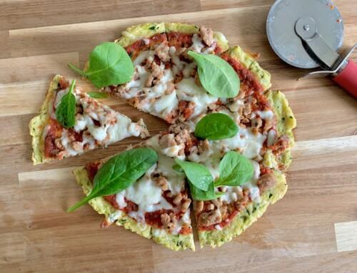 Gluten free zucchini pizza